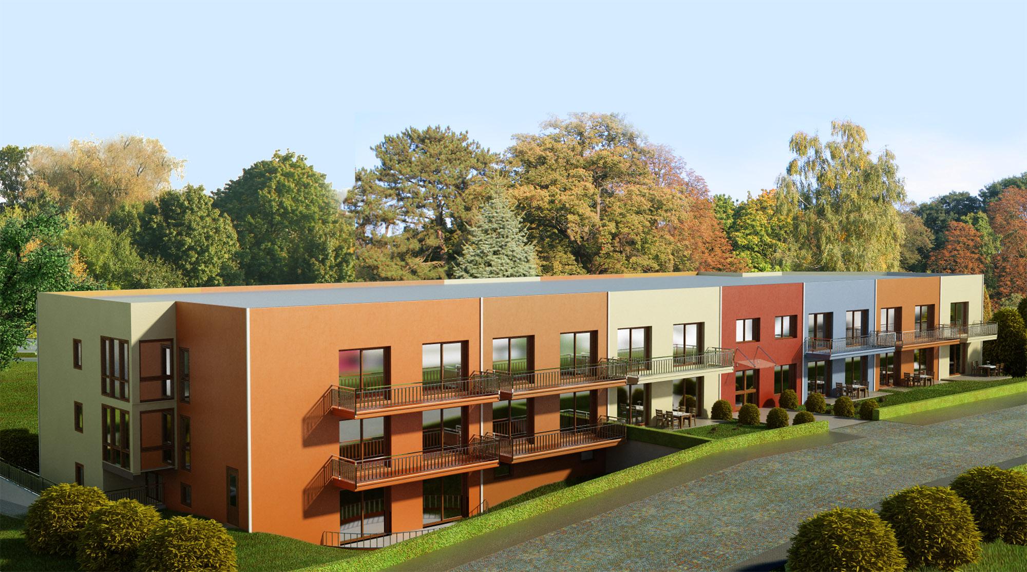Wohnanlage mit 28 Wohnungen Frontseite